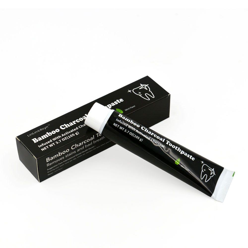 2018 DHL Free 105g Dentifrice au charbon blanchissant Pâte dentifrice noire Dentifrice au charbon de bambou Hygiène buccale Produit de haute qualité