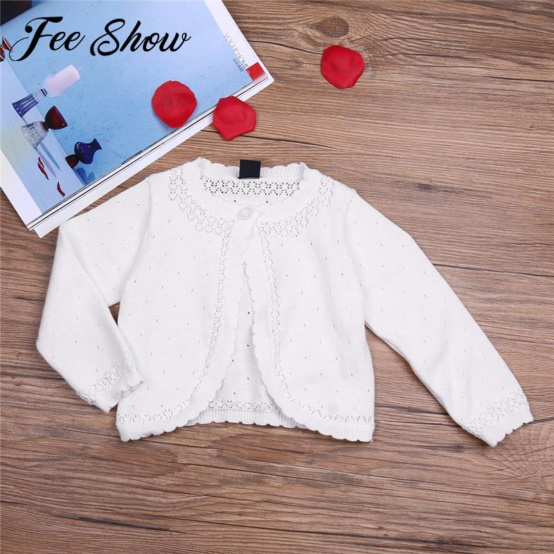 a2198e6cd White Infantil Baby Girls Long Sleeve Lace Flower One Button Closure ...