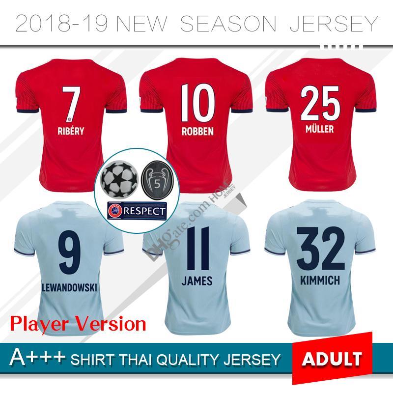 Jugador Versión 2019   25 MULLER Bayern Munich Home Camiseta De Fútbol 18  19 Casa Red Soccer Camiseta   11 JAMES   9 LEWANDOWSKI Away Uniforme De  Fútbol Por ... f0fa0ddf6d2ef