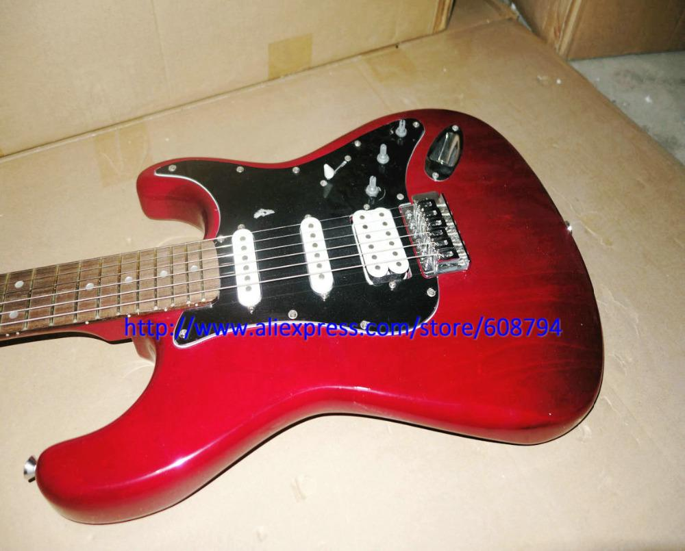 Stock Guitar Custom RED S&T Electric Guitar Cheap sale, have a little rust China guitar Free shipping guitars from china