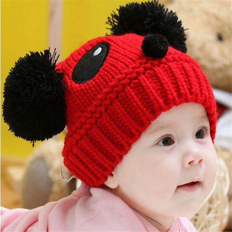 Compre Chapéu Do Inverno Do Bebê De Malha De Crochê Do Bebê Boina Menina  Cap Para Crianças Cap Quente Panda Bonito Miúdo Quente Gorro Unisex De  Babyeden eb26d4296a3
