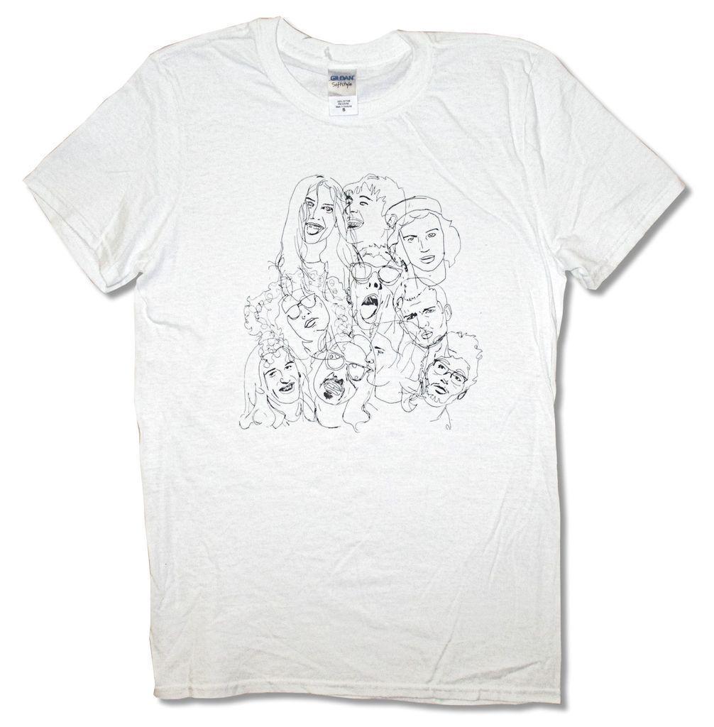 Compre Wolf Alice Group Sketch Faces Camiseta Blanca Nuevos Disenos
