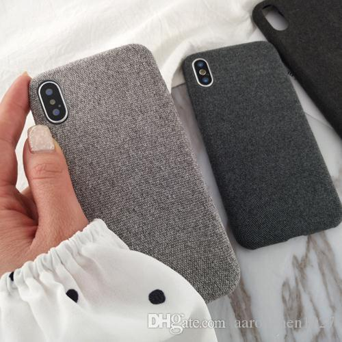 buy popular afd9e 72bc2 Best buy Cloth Texture Soft TPU case For iphone 7 8 7/8 plus Case  Ultra-thin Canvas Silicone Phone Cases For iphone 6 6S Plus X