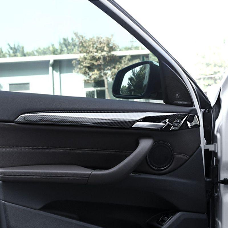 Carbon Fiber Style Car Inner Door Handle Panel Decoration Cover Trim