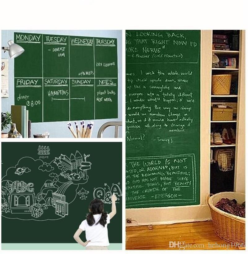 45*200cm Wall Stickers Self Children Room Decor Adhesive Chalk Board Blackboard Chalkboard Paster High Quality 5 2zy C
