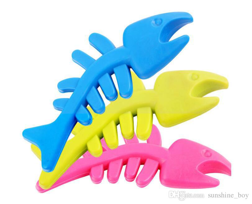 2018 Hot sale Rubber fragrance Fish bone for Pet Toys Dog Cat Puppy Chew Toys Pet Shop Drop Shipping