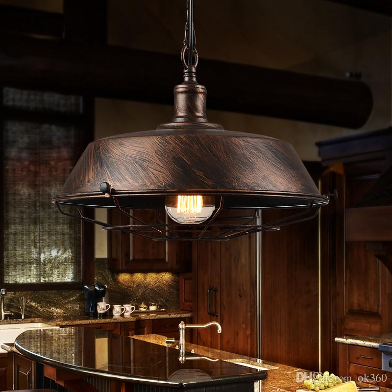 Retro loft lampada a sospensione studio ufficio sala da pranzo bar corridoio corridoio ristorante pub cafe lampadario appeso luce faro