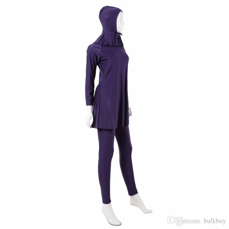 Vogue Modesty Swimsuit Muslim Swimwear Islamic Swimsuit Beachwear Full Cover Costume