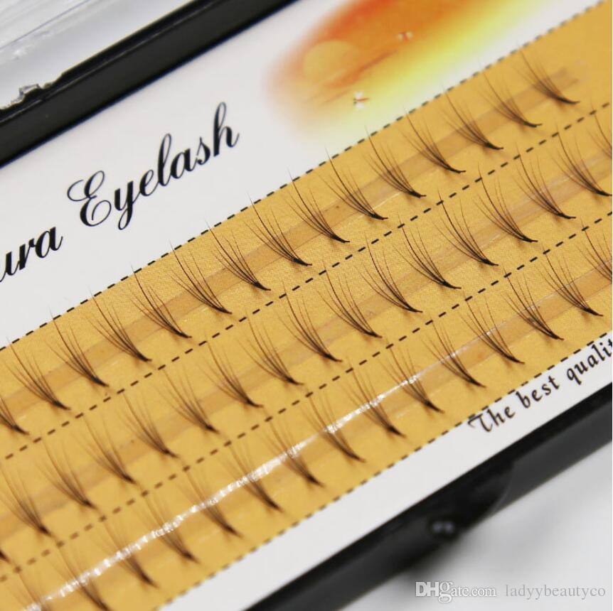 0.07mm 5D mixed length C curl clouds hair own eyelashes grafted ellipse middle single cluster planting false eyelashes flat hair 0.07mm