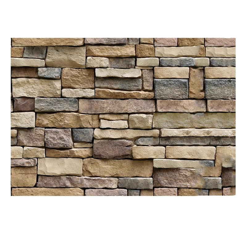 45x100cm 3d decorative wall decals brick stone rustic self adhesive
