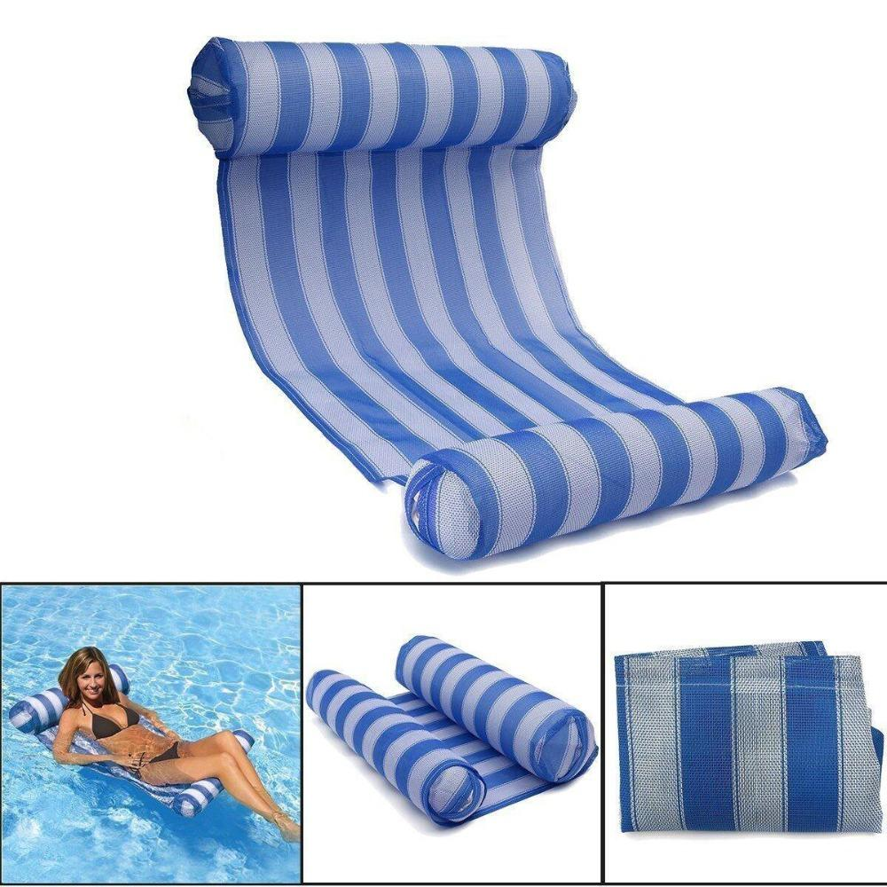 Swimming Pool Float Hammock Inflatable Rafts Water Lounge Floating Lounger  Chair Air Lightweight Floating Chair for Adults