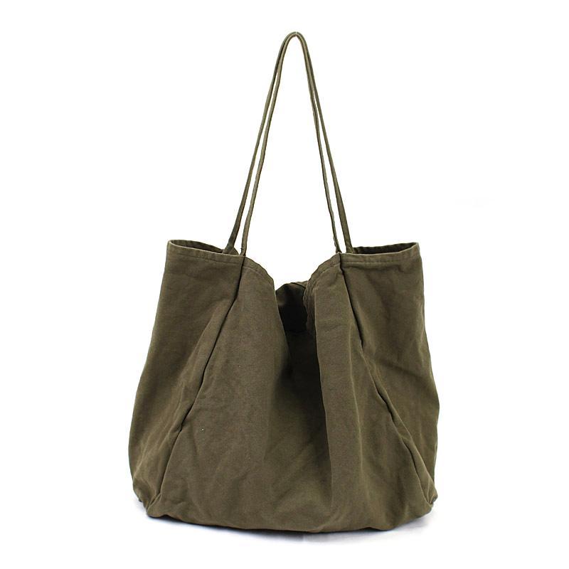 f72c1a1934181 Großhandel 2018 Damen Stoff Canvas Tote Bag Handgemachte Baumwolle Shopping  Reise Frauen Handtaschen Falten Schulter Shopper Taschen Bolsas De Tela Von  ...