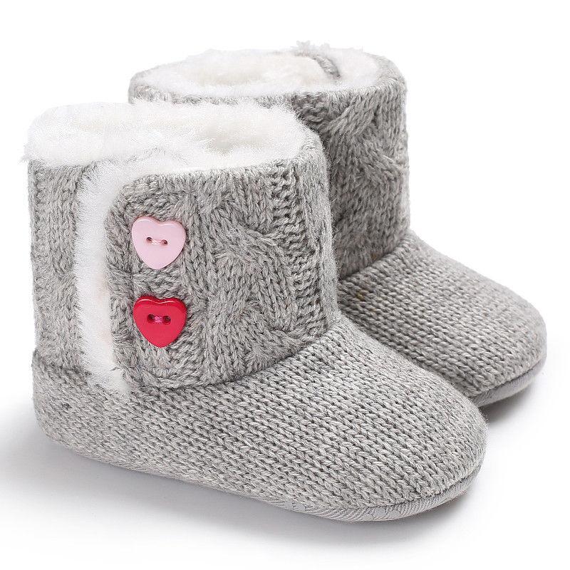 2a75ff3153610 Winter Baby Girls Boys Crochet Knit Woolen Soft bottom Toddler Snow Boots  Shoes fashion novel warm trend cute wild lovely