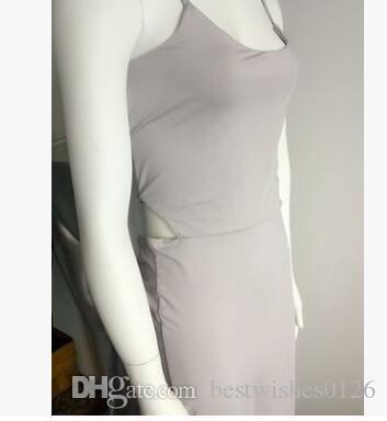 Frauen sexy Partei rückenfrei tiefem V-Ausschnitt Verband schnüren sich oben ärmelloses, figurbetontes Midi-Club-Kleid