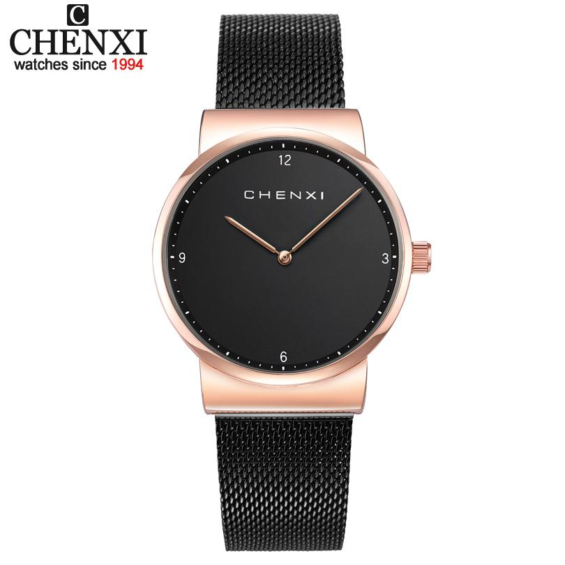 cb8408f243a Compre Chenix Luxo Moda Feminina Relógios 30 M À Prova D  água Black Rose  Relógio De Ouro Das Mulheres Relógios De Quartzo Relógio Casual Relogio  Feminino ...