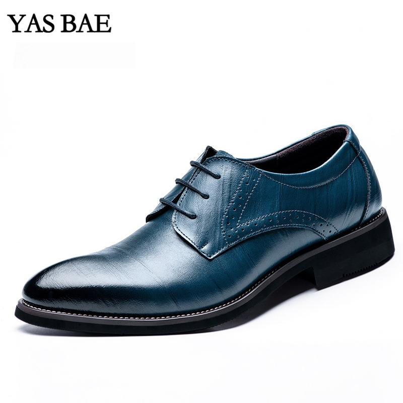 1ddb500acd2b2 Male China Brand Italian Fashion Style Leather Dress Office Social Formal  Shoes Patent Leather Blue Brown Cheap Footwear For Men Red Shoes Mens  Slippers ...
