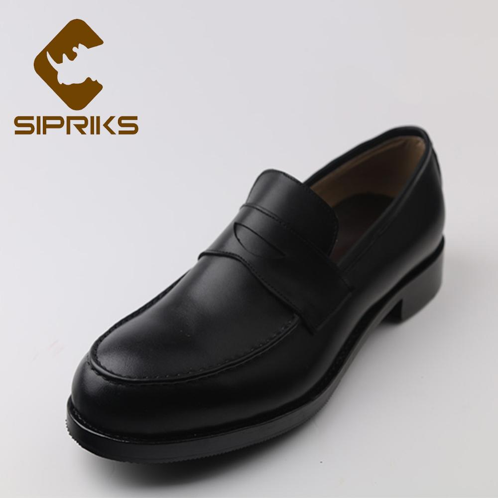 be650a4ed21 Sipriks Mens Penny Loafers Imported Italian Calf Leather Black Men  Topsiders Loafers Custom Goodyear Welted Shoes European 2018 Men Sandals  Best Shoes From ...