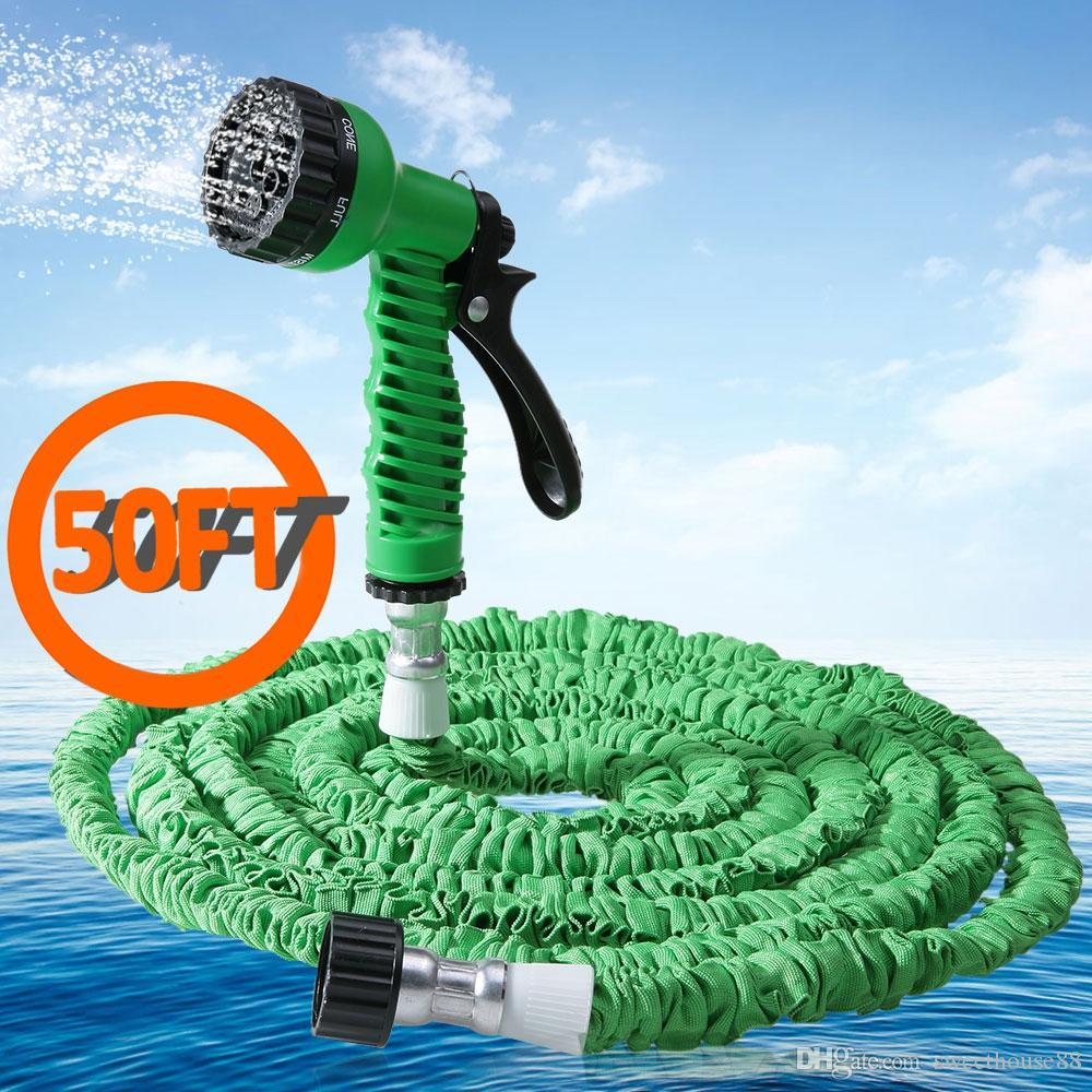 Garden Hose Water Pipe Popular 50FT Expandable Garden Hose Retractable Water Hoses Retractable Hose Plastic Pipe Car Watering +NB