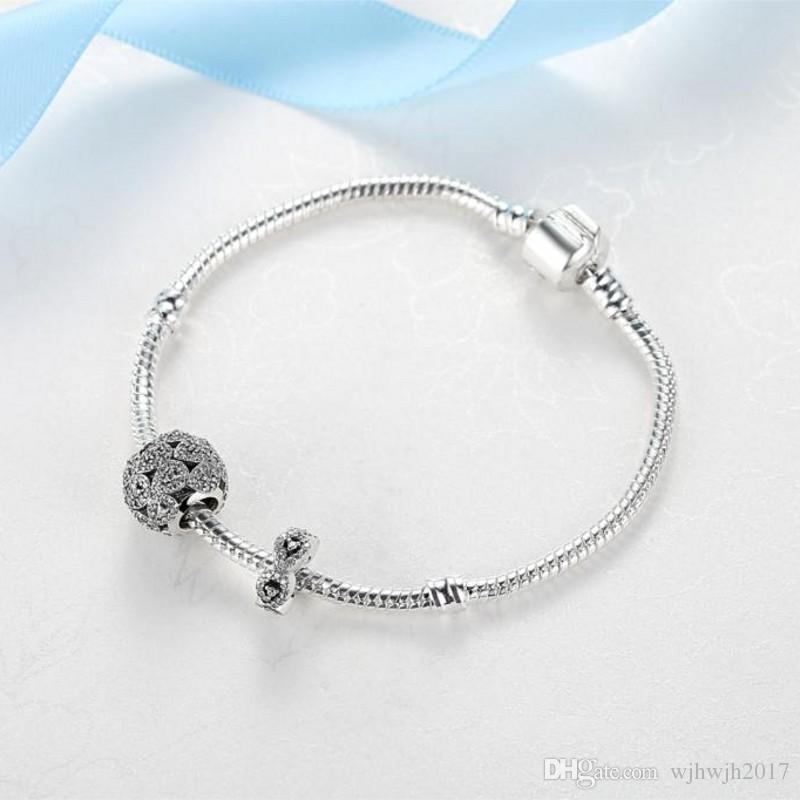New Diy Beads Fit Charms European Women Bracelet Original Silver 925 Cascading Glamour Women Beads For Jewelry Making Crystal Diy Bead