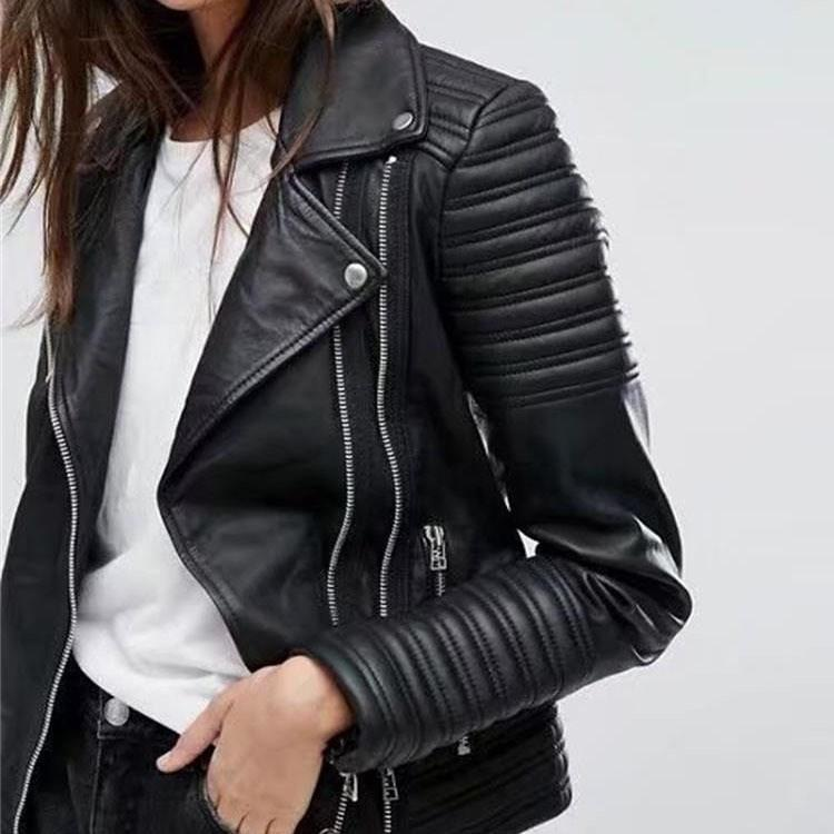 Acheter 2018 Automne Nouvelle Mode Femmes Moto Veste En Cuir À Manches  Longues Biker Streetwear Moto Faux En Cuir Manteau Pu Outwear De  45.96 Du  Whitecloth ... 3e6ecd81ecb