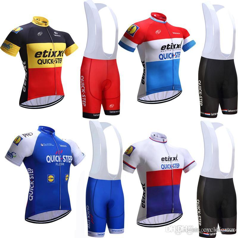 5d9f56adf 2018 New Quick Step Men Cycling Jersey Tour De France Bicycle ...