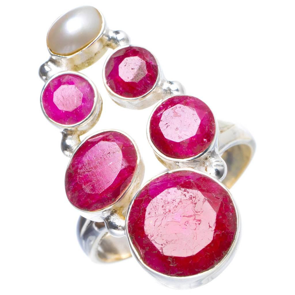 b638b490c 2019 Natural Cherry Ruby And River Pearl Handmade Unique 925 Sterling Silver  Ring 7.25 Y4204 From Ogfashion, $48.67 | DHgate.Com