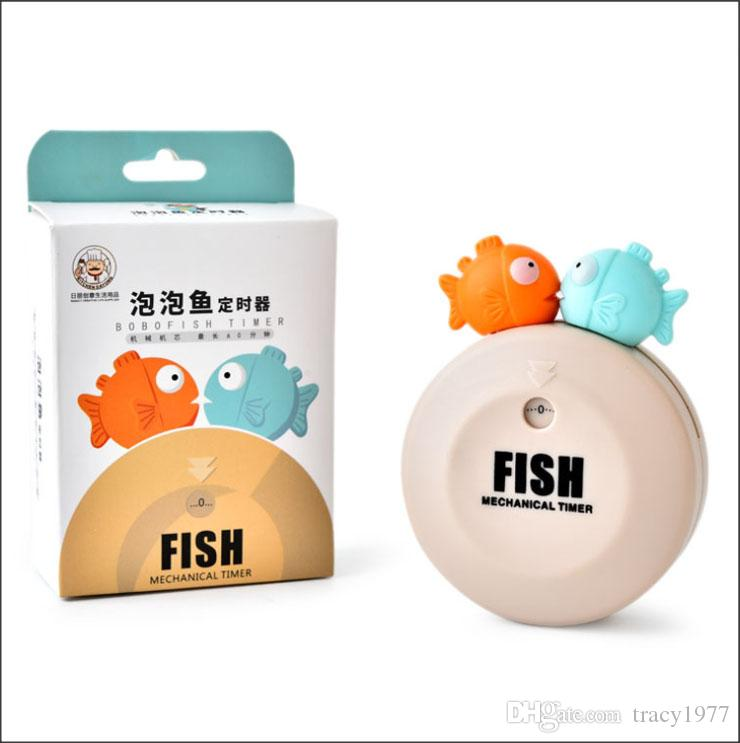 2019 New Kitchen Timer ABS Clock Cute Fishing Shape
