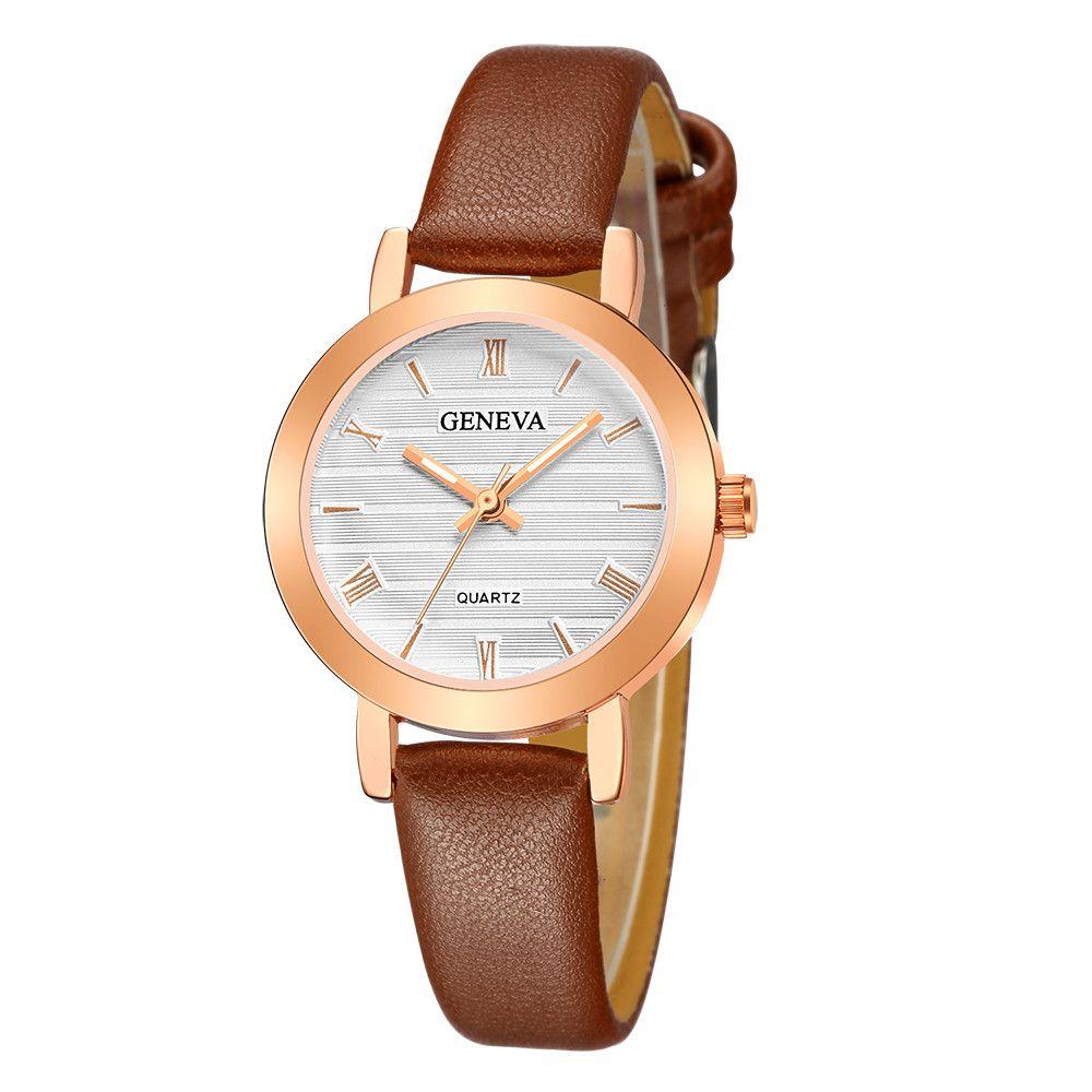 f81b1948eea6 Hot New Fashion Watches Geneva Women Leather Band Stainless Steel Quartz  Watch Ladies Clock Female Fashion Women Watches Watches To Buy Buy Online  Watches ...