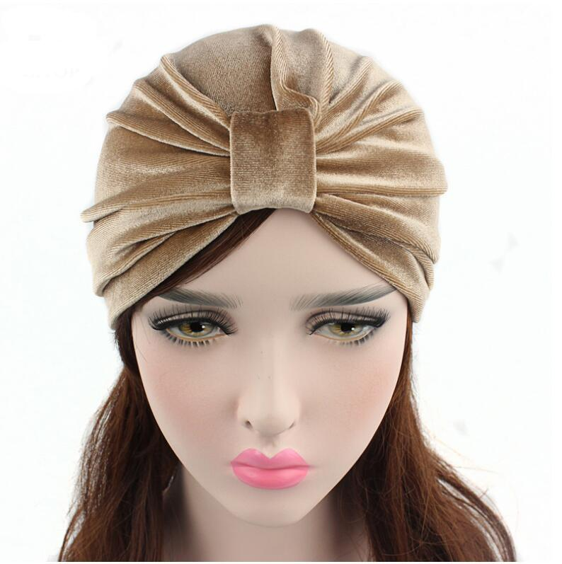 92de0765 New Arrival Women Hats Velvet Turban Caps Dome Caps Head Wrap Europe Style  India Hats Women Beanies Skullies For Fall And Spring Hats Online Caps From  ...