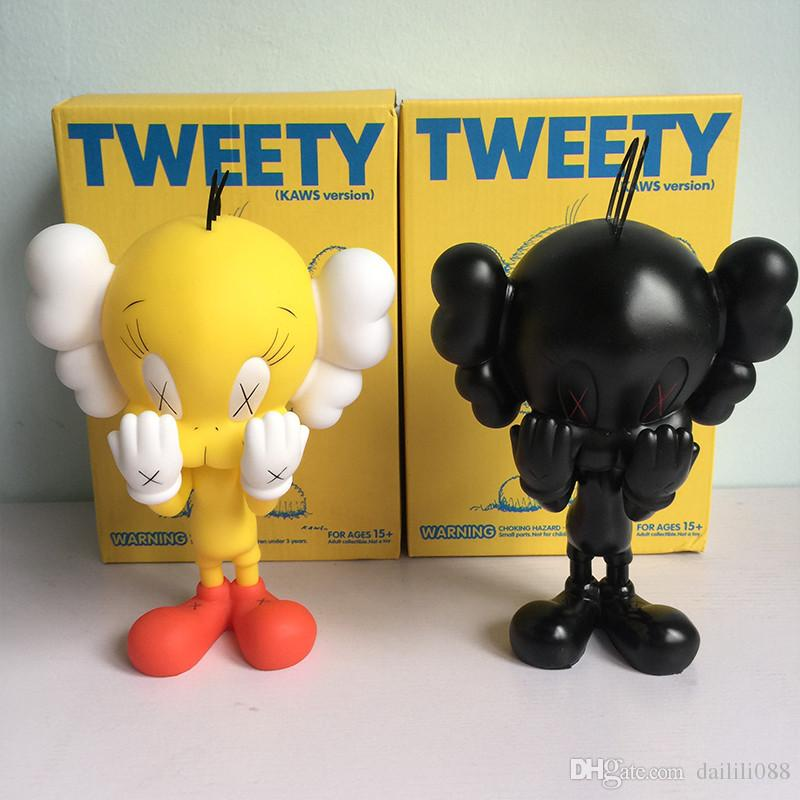 Lilytoyfirm Fashion Toys Original Fake Kaws Tweety Yellow Black