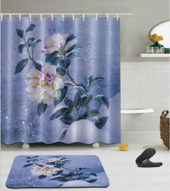 2018 3D Flower Pattern Irish Decorations Waterproof Bathroom Decor Fabric Shower Curtains Floor Mats Sets From Paintingart2017 1538