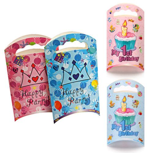 Brand New 1st Birthday Party Baby Shower Favor Boxes Gift Bags Decoration 50th Favors Adult From