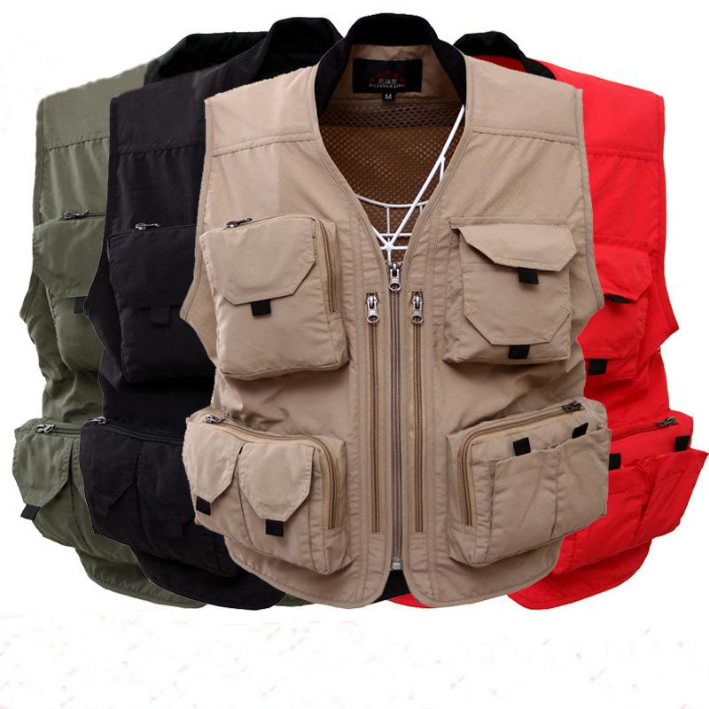 53e58ec39e Compre Chaleco Para Hombre 2017 Chaleco De Trabajo De Verano Tactical Hunt  Con Bolsillos Para Chaquetas Para Hombre A  36.22 Del Lookpack