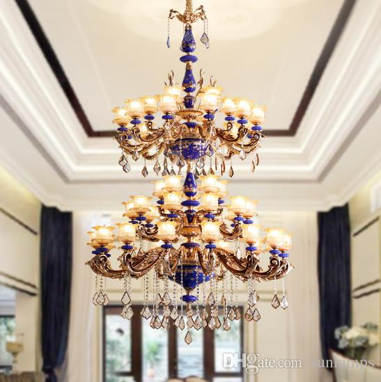 Regron retro chandelier lights large led crystal ceramic chandeliers regron retro chandelier lights large led crystal ceramic chandeliers lamp pastorale modern creative suspension luminary banquet contemporary chandelier aloadofball Image collections