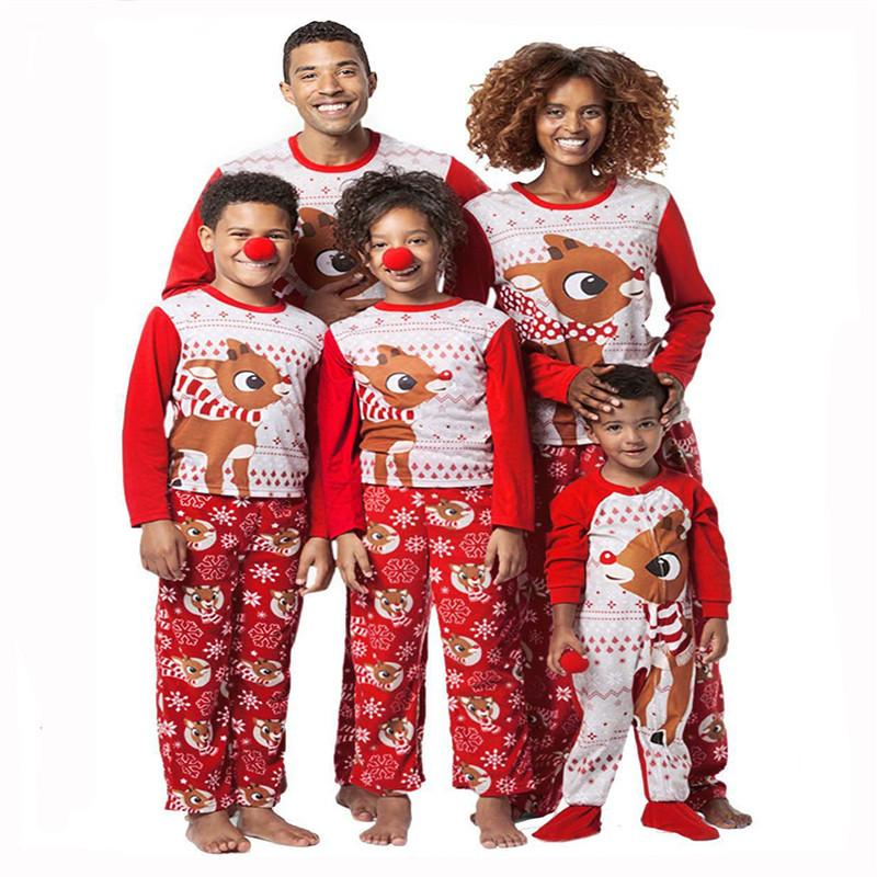 d3eb49833a Family Matching Christmas Pajamas Elk Print Pyjamas Fall Outfit Sleep  Homewear Set Women Men Baby Kids Set Xmas Sleepwear Nightwear New Outfits  For Family ...