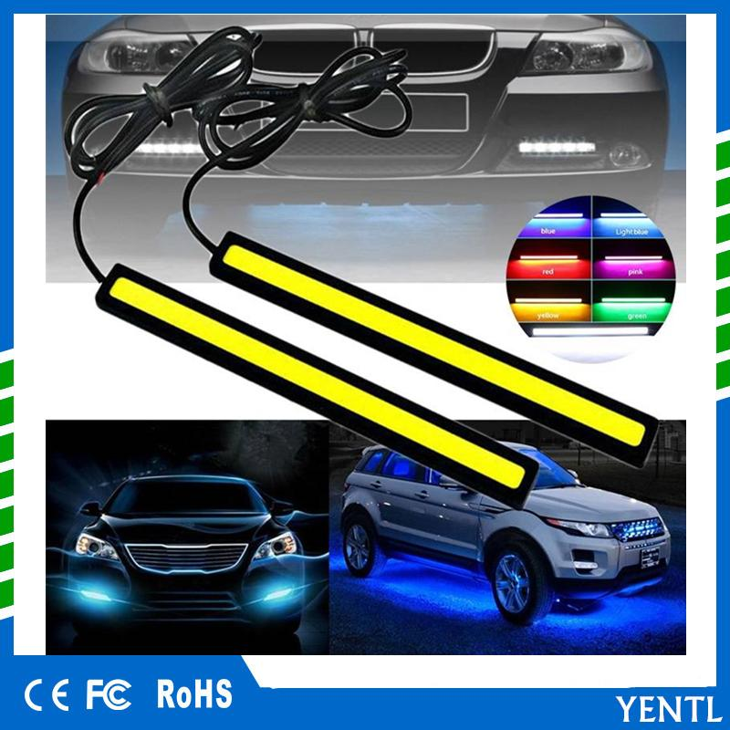 Automobiles & Motorcycles Car Lights Just 1pcs Car Led Daytime Running Lights Ultra Bright Dc 12v 17cm Waterproof Auto Car Drl Cob Driving Fog Lights Dho Drl
