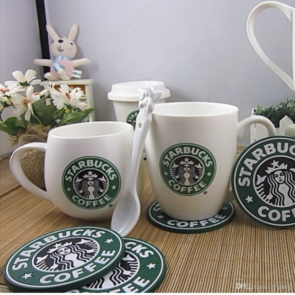 2019 Coffee Coasters Cup Silicone Coasters Starbucks Cup Mat Sea