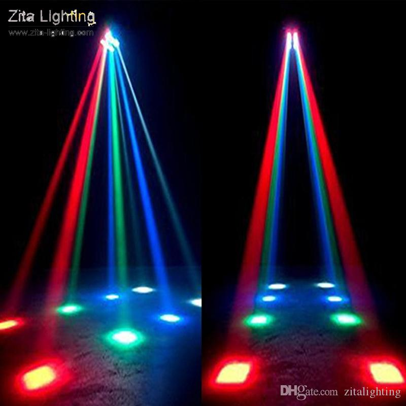 Zita Lighting LED Moving Head Lights Spider Light Beam Scanner Stage Lighting RGBW Colorful 8X3W DMX512 Party Dance DJ Disco Lighting Effect