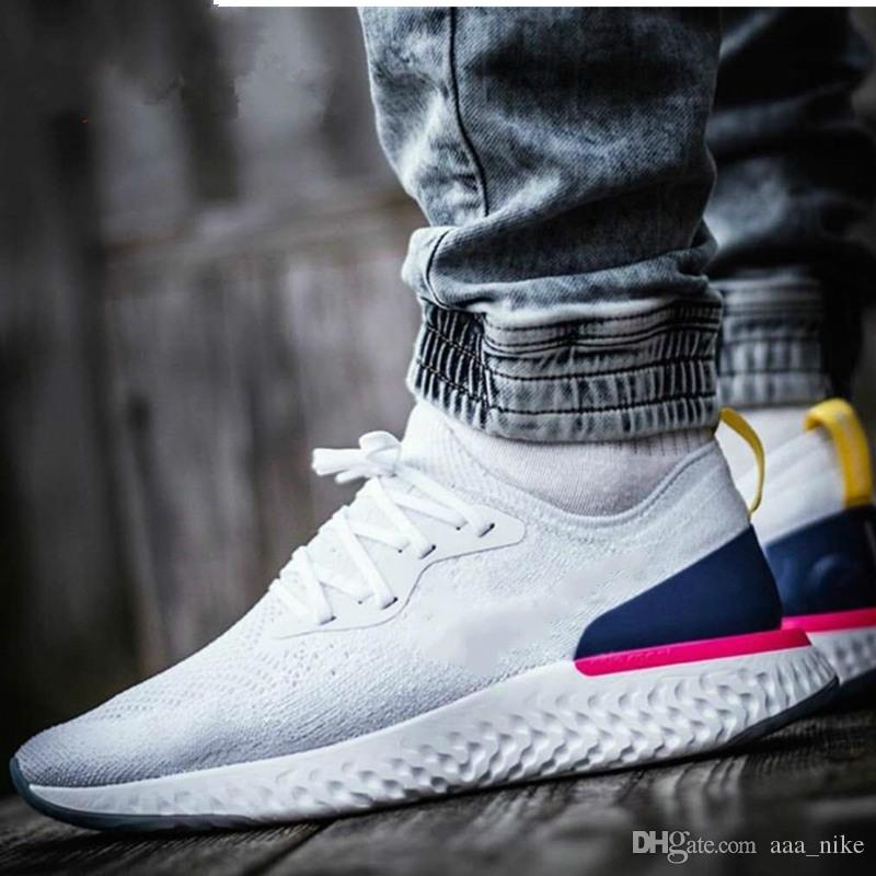 f25301ced687 2019 2018 High Quality Epic React Running Shoes Women Men Sneakers Sport  Trainers Desinger Sepic React Man Run Shoes Zapatillas White Shoes A01 From  ...