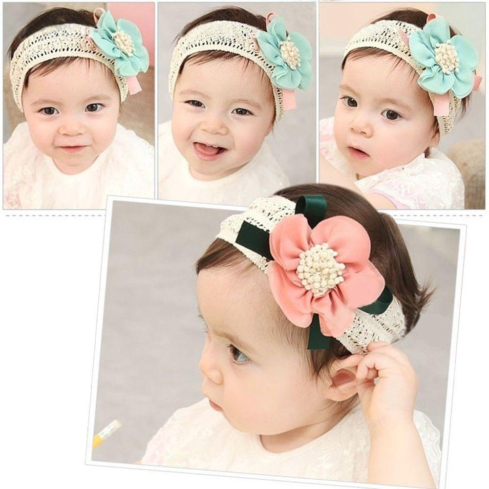 b8f472fb5d7 Lovely Hot Kids Baby Girl Cute Toddler Bow Tie Lace Flower Hair Band  Headwear Headband Accessory Cute Hair Accessories For Teenagers Boutique  Hair ...