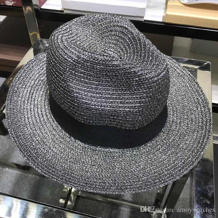 Women Fashion Casual Hats Caps Black High Cc Luxury Design Brand Wide Brim Hats  Summer Beach Hat For Lady Sunscreen Caps Women Hat Fashion Hat Luxury Hat  ... 57cd851c7a44