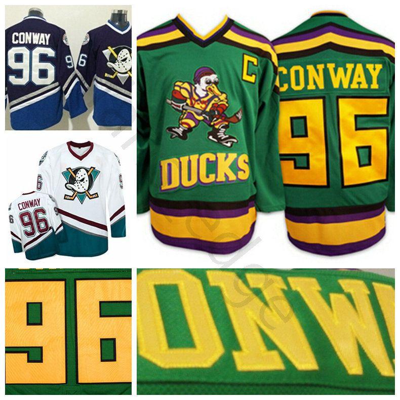 b5d2a3c5f Mighty Ducks Movie 96 Charlie Conway Jersey Worn 1993 94 Green Stitched  Sewn Anaheim Ducks Vintage Charlie Conway Hockey Jerseys S XXXL UK 2019  From ...
