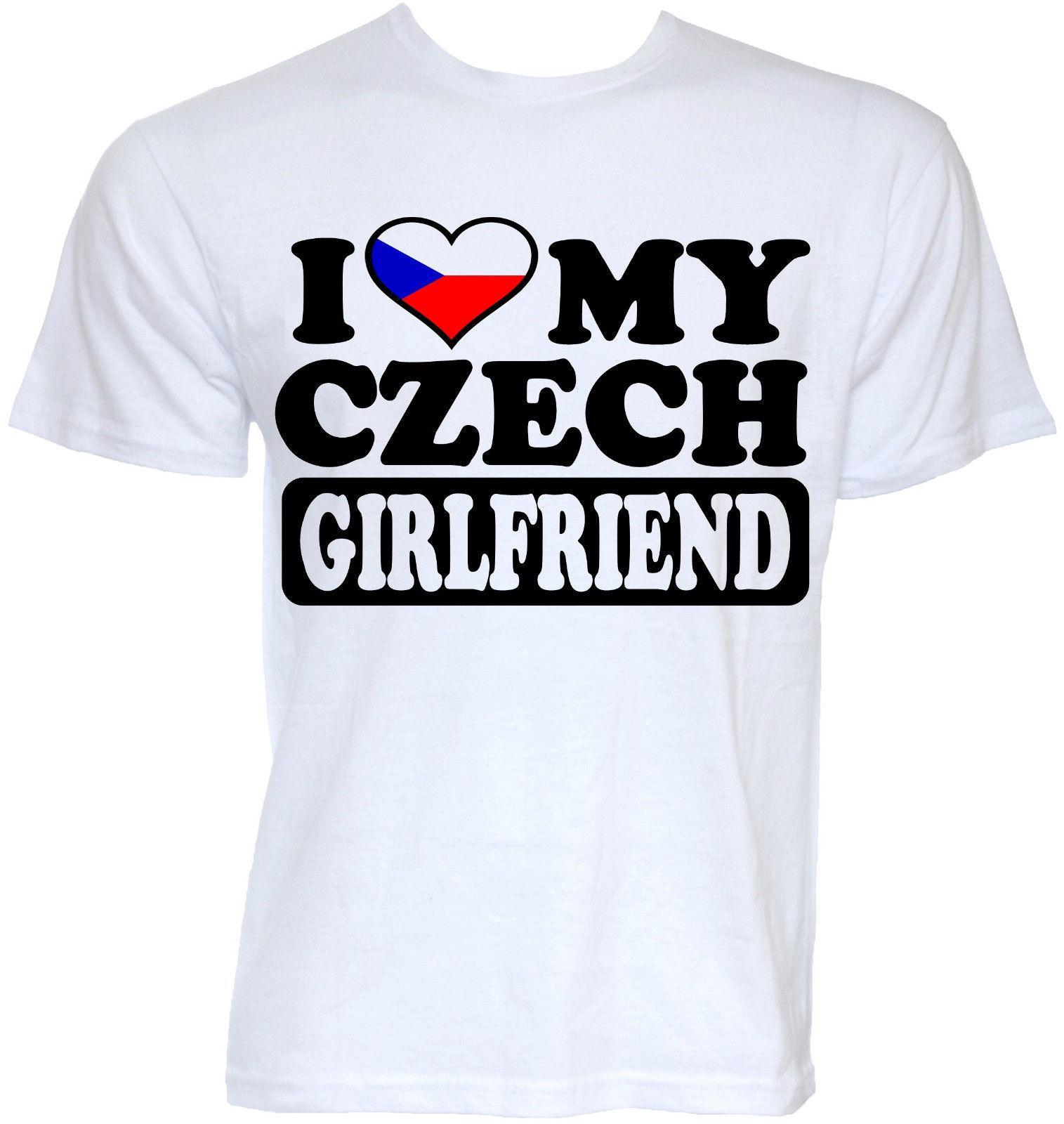 a9a08aa2 Mens Funny Cool Novelty Czech Girlfriend Czech Republic Flag Joke T Shirts  Gifts Print T Shirt Fashion Short Sleeve T Shirts In A Day Awesome Tee Shirt  ...