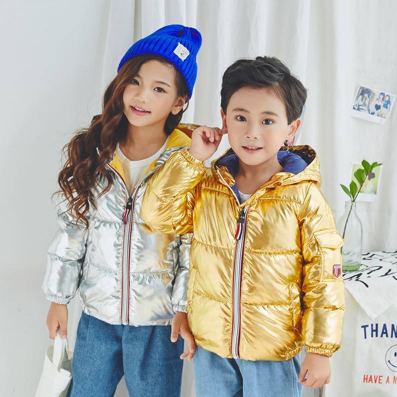 a67a96a2e Fashion Warm Cotton Winter Baby Boys Girls Jackets Bright Child Coat ...