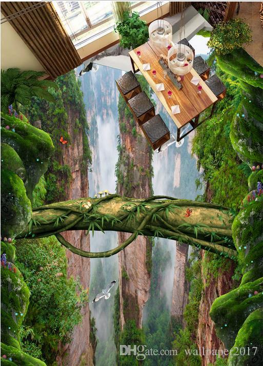Großhandel Forest Valley Mountain Peak Dreidimensionale Badezimmer ...