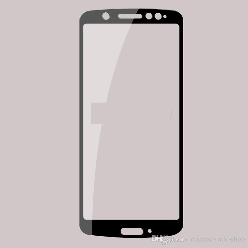 Full Cover Tempered Glass Screen Protector Silk Printed FOR MOTOROLA MOTO G6 plus G6 play E5 PLUS E5 PLAY