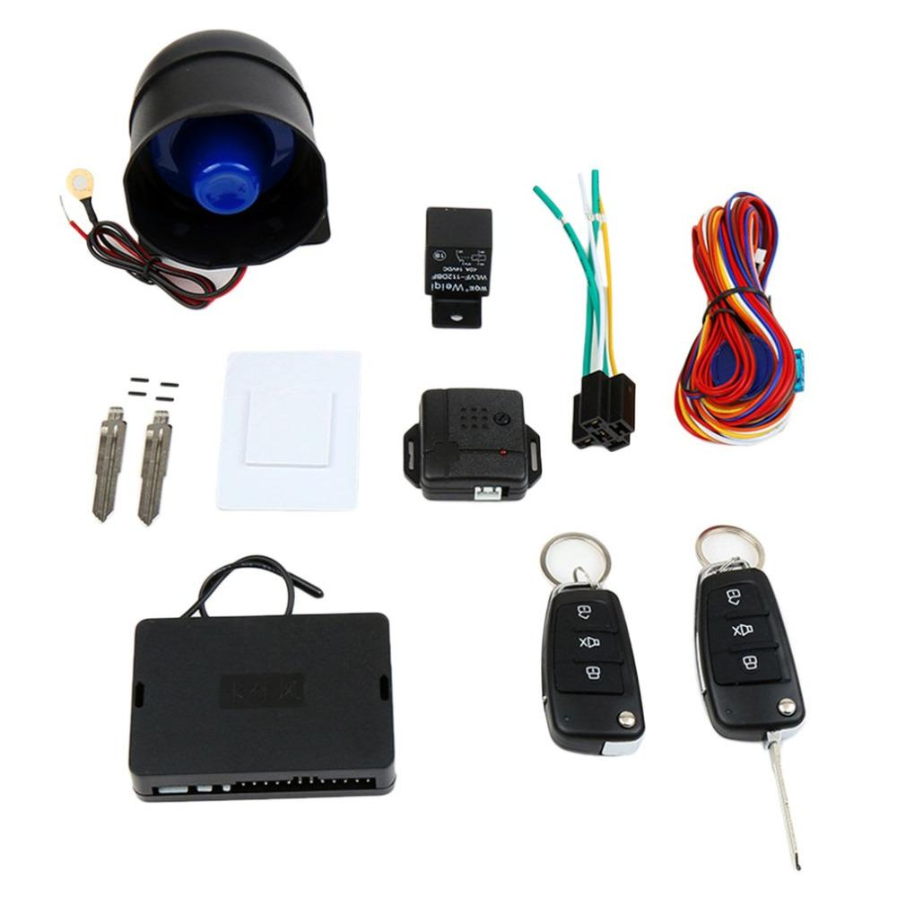 Car Alarm System Kit One Way Vehicle Burglar Alarm Anti-theft Devices with Remote Control Trigger Protection Car-styling
