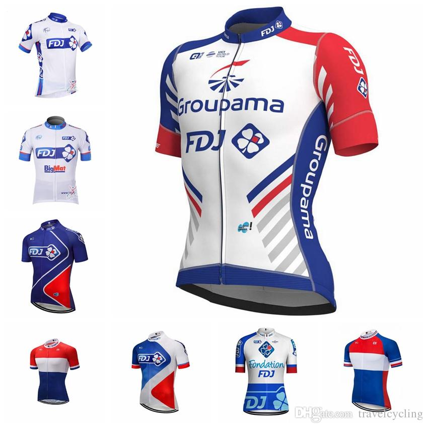 2018 Summer CCC FDJ Breathable Cycling Jersey Bicycle Clothing ... d6a297f98