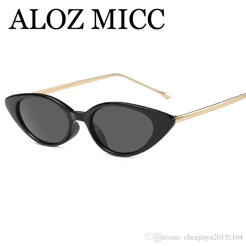 c0dda9cde68 ALOZ MICC Fashion Small Cat Eye Women Sunglasses Unique Metal Frame Sun Glasses  Women Shades Brand Designer Oculos A510 Sunglasses for Women Designer ...