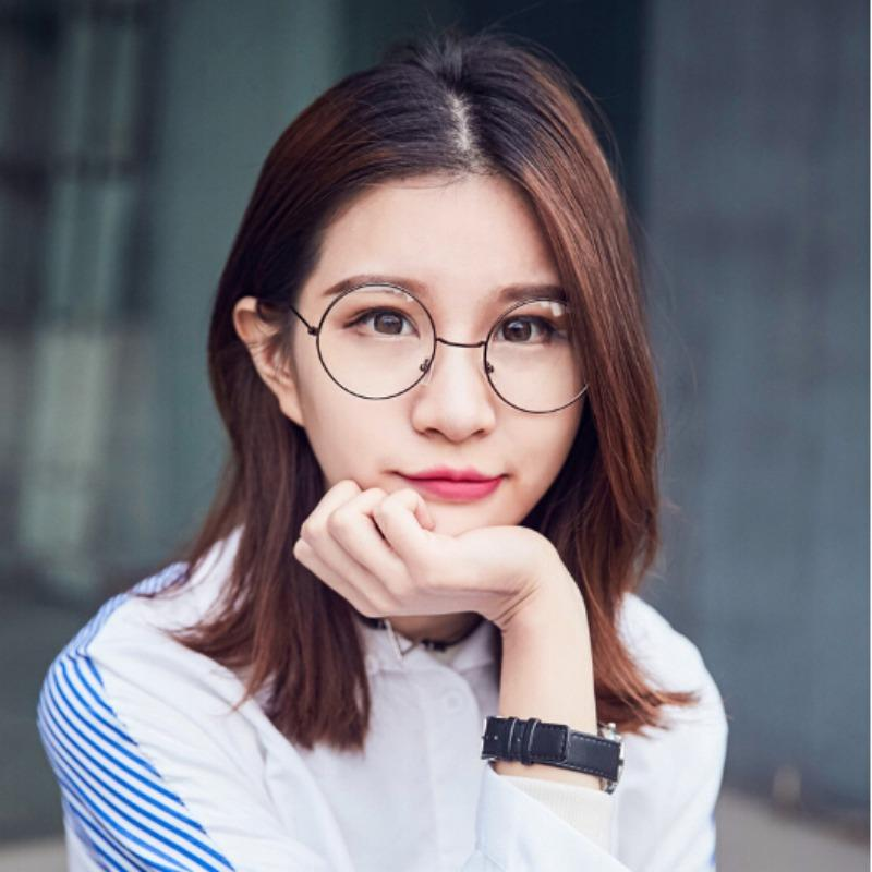 b39fc2f0de2 2019 Black Round Glasses Clear Frame Women Spectacle Myopia Glasses Women  EyeGlasses Frame Nerd Optical Frames Colorful From Milknew